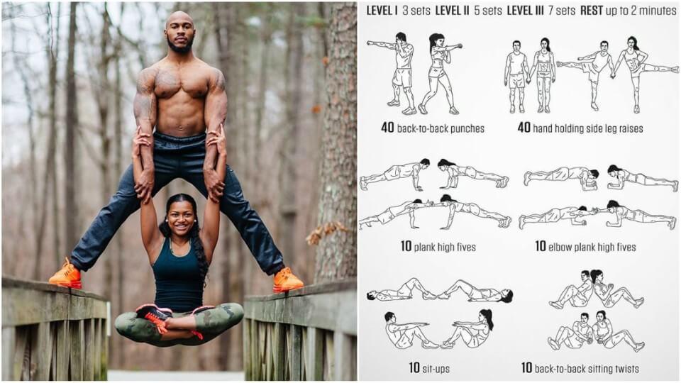 Alegeți-vă partenerul pentru antrenament pentru a construi corpul perfect împreună